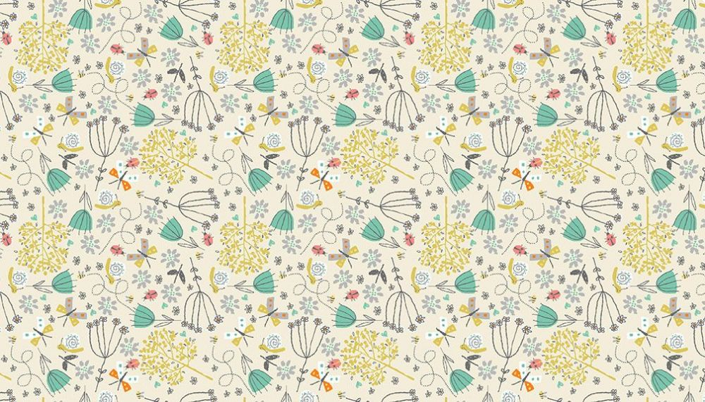 A Walk In The Park 2142Q  Flowers Cream